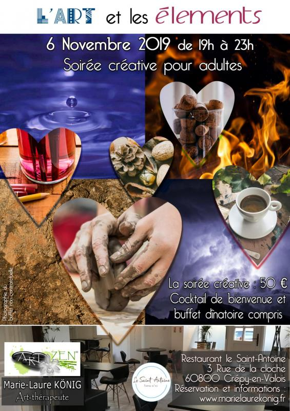 Affiche soiree creative elements