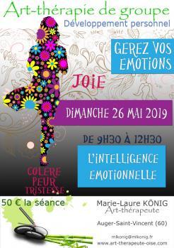 Art terapie emotions intelligence emotionnelle developpement personnel art therapie de groupe oise 60330 60440 60800 60300 60200