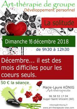 La solitude - Art-thérapie de groupe - Séance du 16 décembre 2018