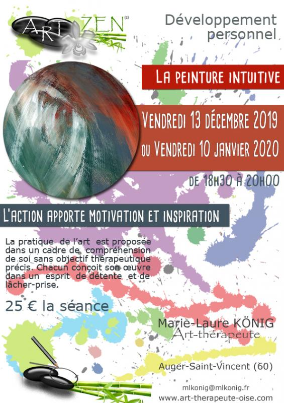 Art zen peinture intuitive marie laure konig art therapeute