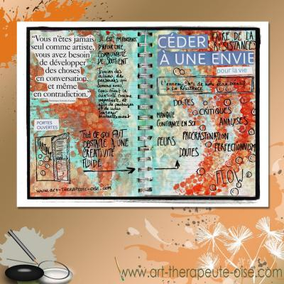 Ceder a une envie journal creatif art therapie