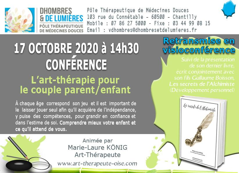 Conference 17 octobre art therapie et couple parent enfant visio