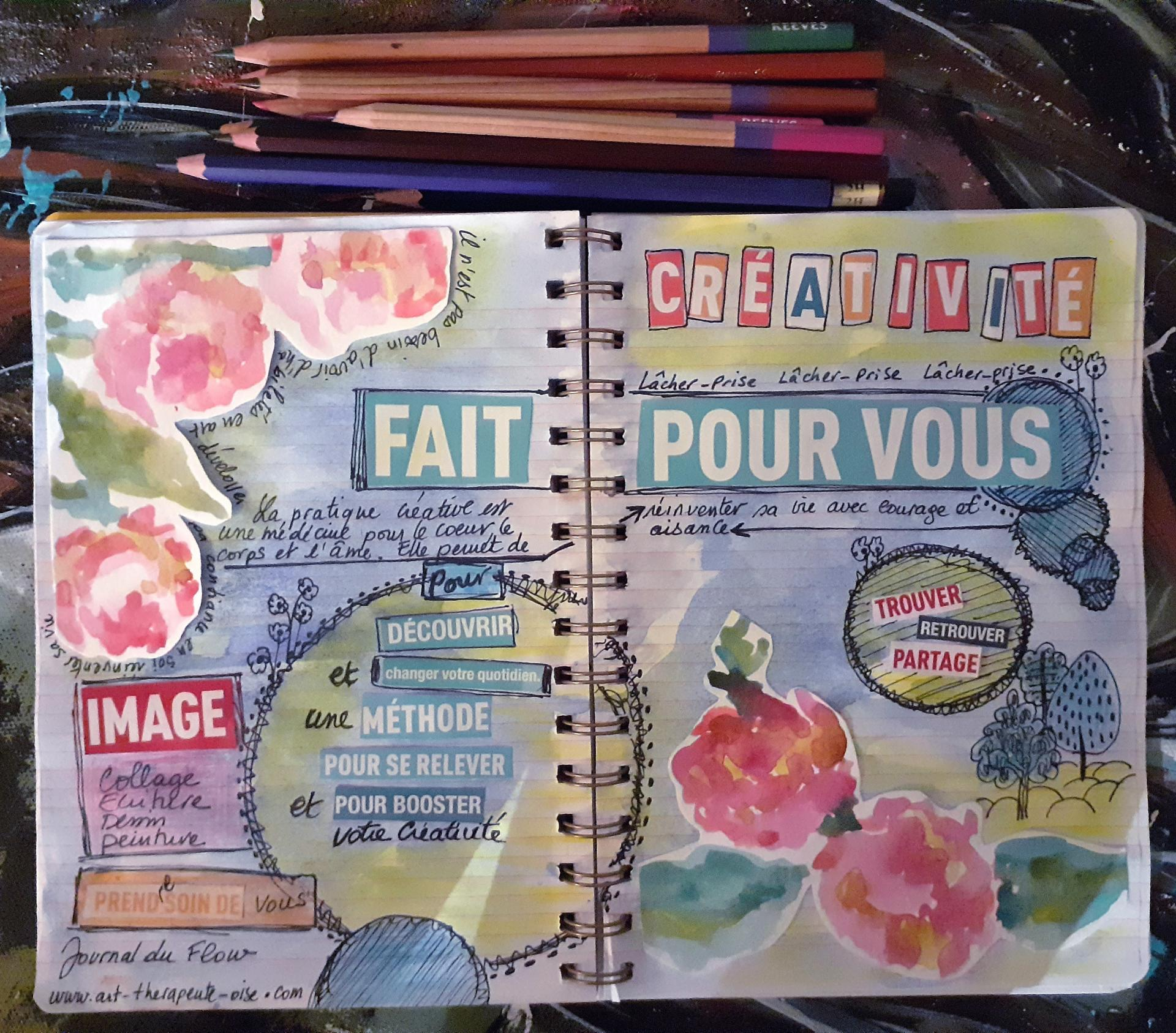 Creative journal le flow bien etre detente 2312
