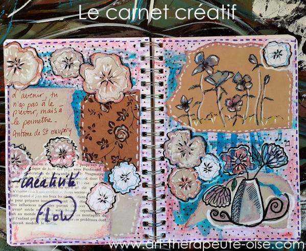 Creative journal le flow bien etre detente carnet