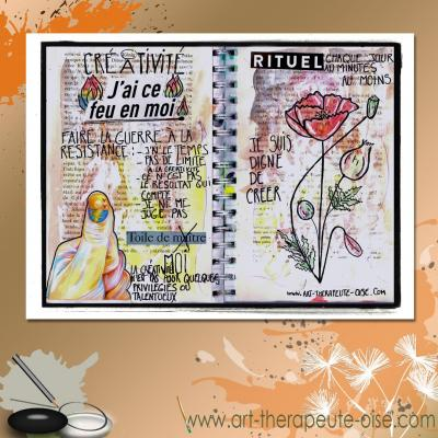 Creativite journal creatif art therapie