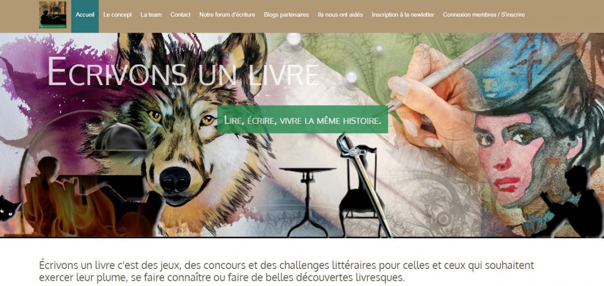 Ecrivonsunlivre.com un site d ecriture collective