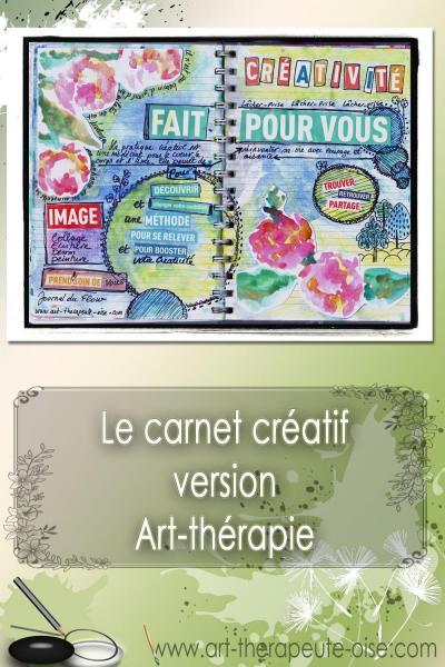 carnet créatif version art-thérapie