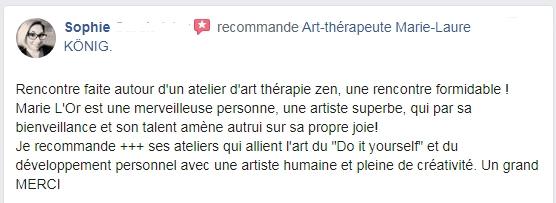 Recommandations de Sophie sur l'art-thérapeute Marie-Laure KÖNIG - Oise