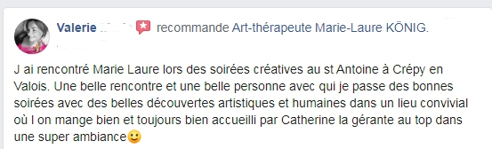 Recommandations de Valérie sur l'art-thérapeute Marie-Laure KONIG Oise
