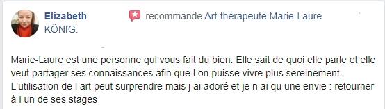 Avis et recommandations d'Elizabeth sur l'art-thérapeute Marie--Laure KONIG Oise