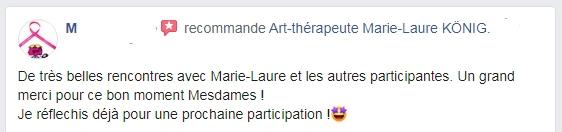 Avis de M sur l'art-thérapeute Marie-Laure KONIG - Oise