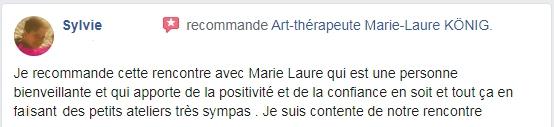 Recommandations de Sylvie sur l'art-thérapeute Marie-Laure KÖNIG - Oise