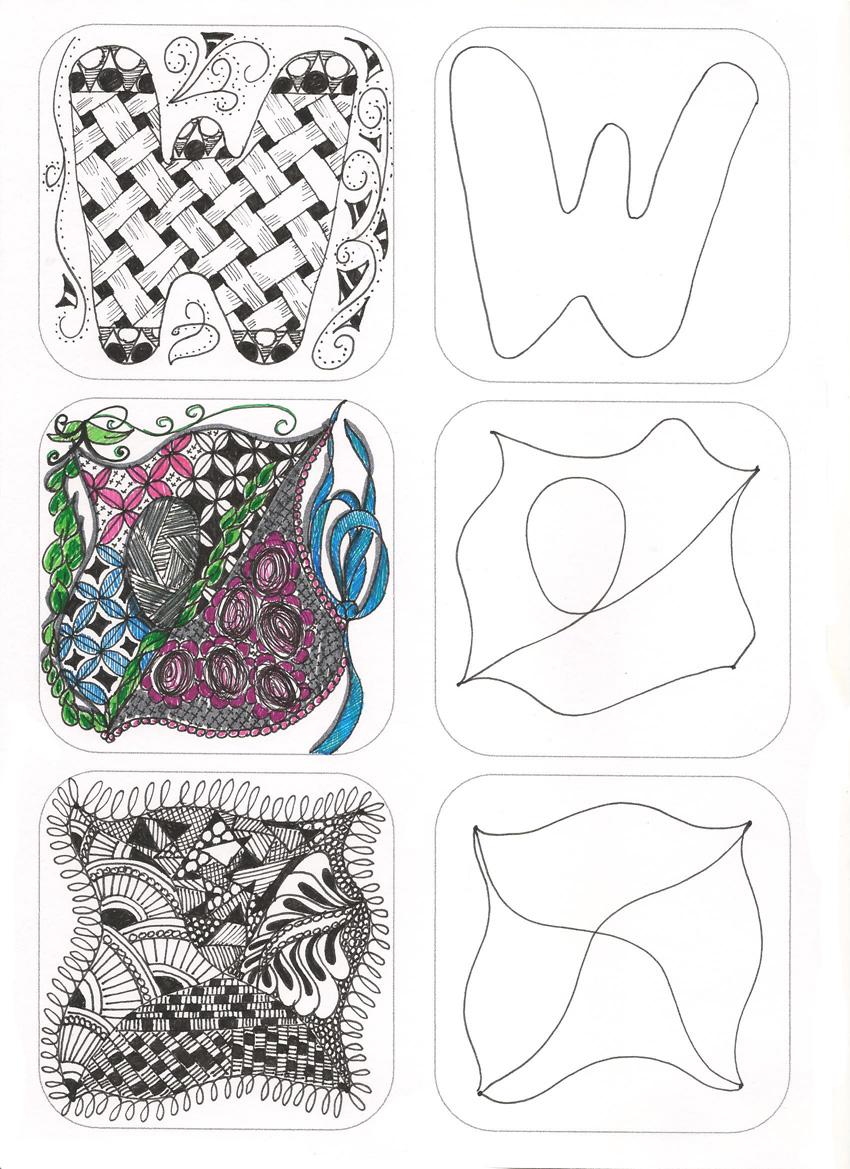 Zentangleplaquetteformes