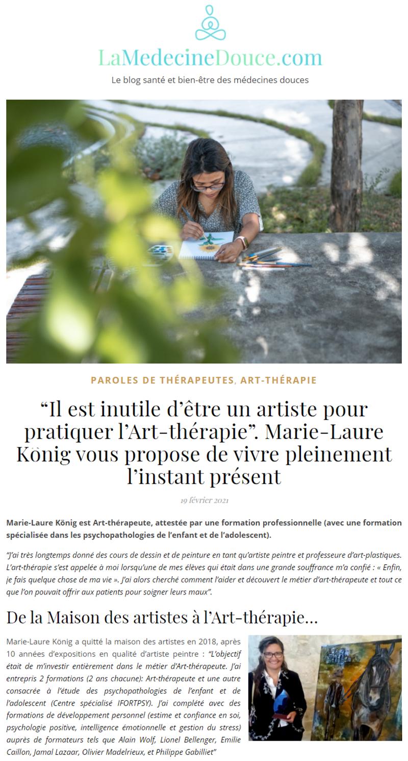 1 revue de presse article marie laure konig art therapeute oise