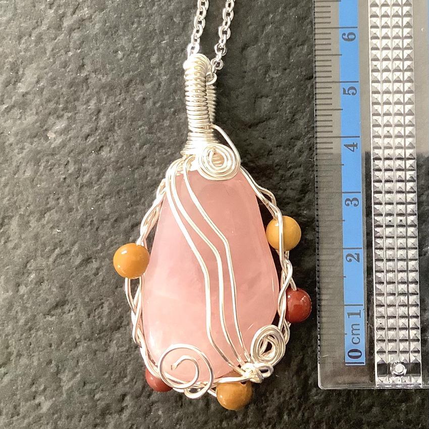 Amour de soi pendentif pierre quartz rose