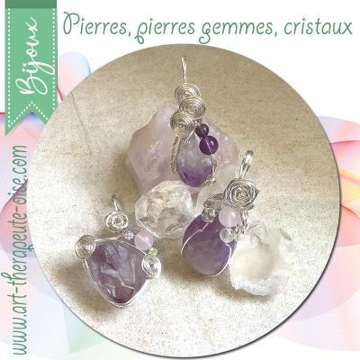Bijoux pierres gemmes cristaux marie laure konig art therapeute oise crepy en valois senlis compiegne chantilly
