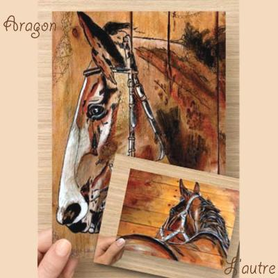 Carte postale aragon royal marie laure konig artiste peintre lot carte postal