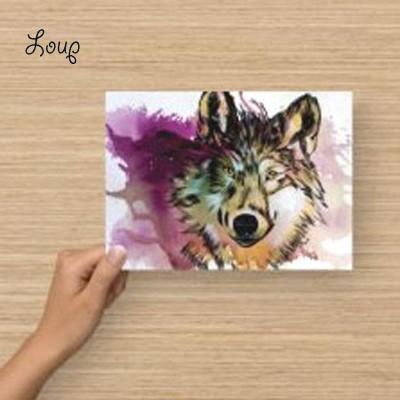 Carte postale loup marie laure konig artiste peintre
