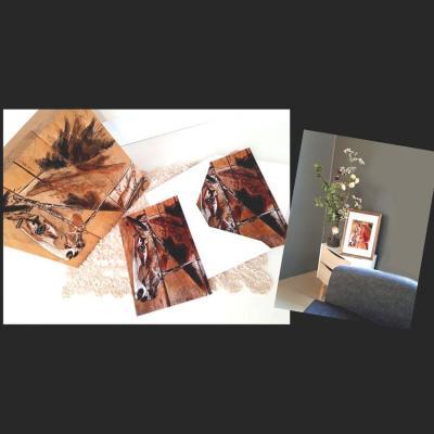 Carte postale reproduction oeuvres de marie laure konig artiste peintre art therapeute oise 60