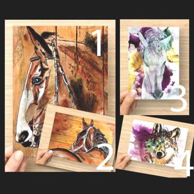 Carte postale reproduction oeuvres de marie laure konig artiste peintre art therapeute oise