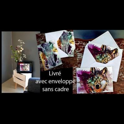 Carte postale reproduction oeuvres marie laure konig artiste peintre art therapeute oise encre