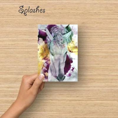 Carte postale splashes marie laure konig artiste peintre