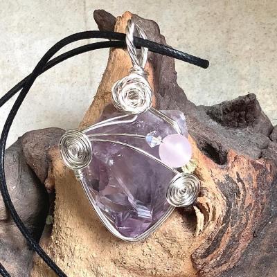 Coeur de cristal amethyste 2