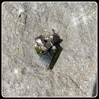 Coeur de silex pendetif bijou ecorepsonsable 2
