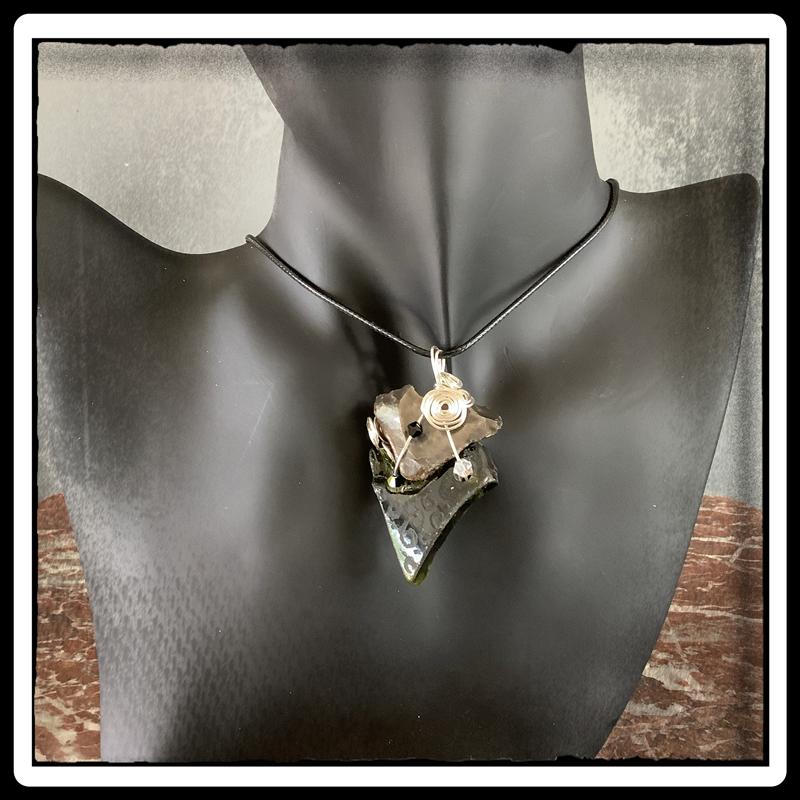 Coeur de sylex bijou ecorepsonsable pendentif 6
