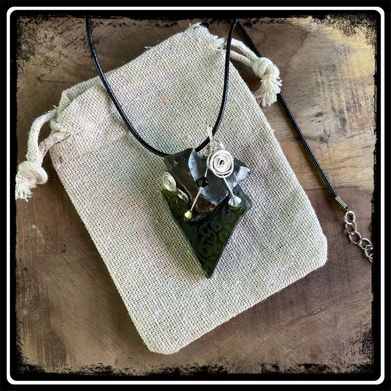 Coeur de sylex bijou ecorepsonsable pendentif 7