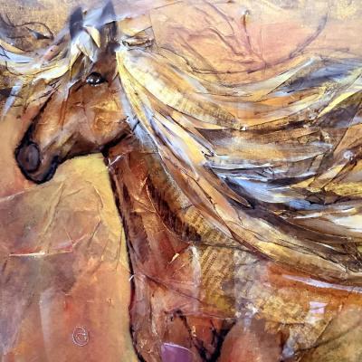 Dans le vent tableau acrylique sur toile