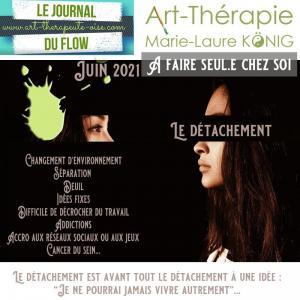 Masque vignette detachement programme video art therapie psychologie