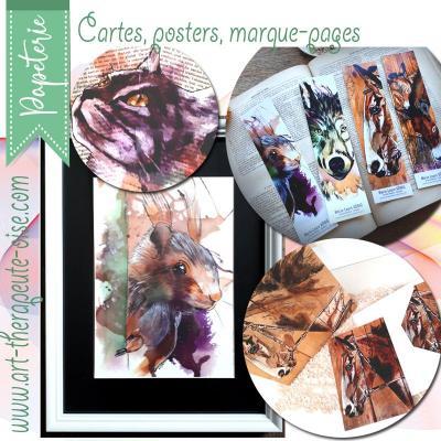 Papeterie carte postale poster marque page marie laure konig artiste peinte art therapeute oise crepy en valois compiegne senlis chantilly