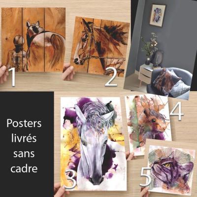 Posters encre bois artiste peintre marie laure konig oise 60800 60330 60300 60200 60440