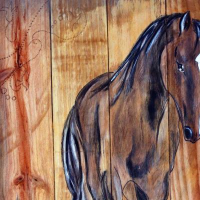 Promenade tableau sur planches de palette marie laure konig detail 1