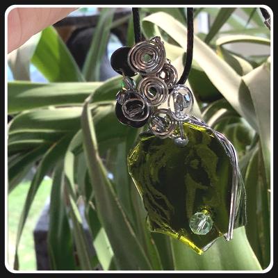Un ptit coeur bijou pendentif ecoresponsable verre 2