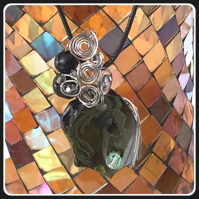 Un ptit coeur bijou pendentif ecoresponsable verre 4