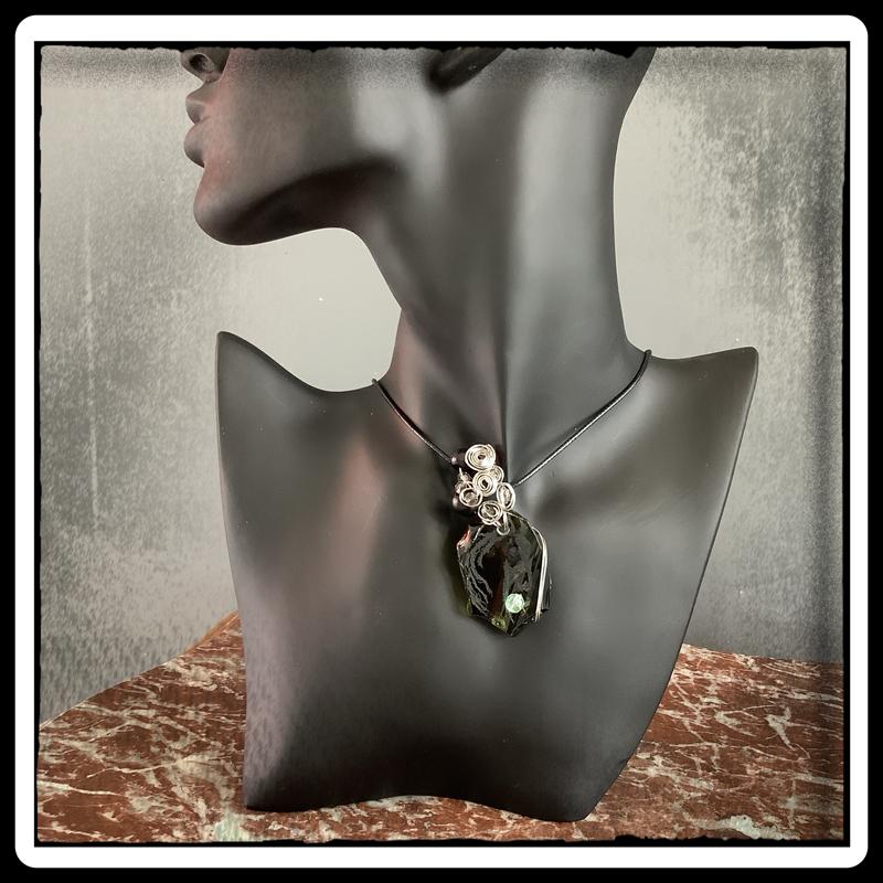 Un ptit coeur bijou pendentif ecoresponsable verre 5